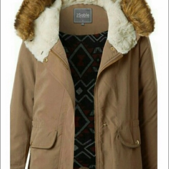 offer beautiful design price remains stable Soft Winter Coat with Faux Fur Hood Boutique